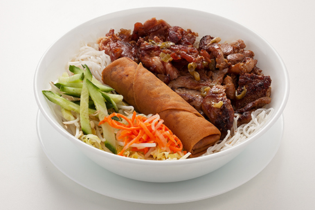 Combo pork chicken spring roll with vermicelli available at Lan Vietnamese Express in Parksville, BC