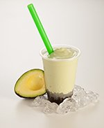 Avocado bubble tea available at Lan Vietnamese Express in Parksville, BC