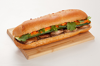 Chicken sub sandwich available at Lan Vietnamese Express in Parksville, BC