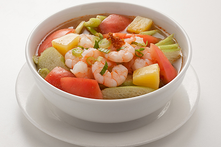 Hot and Sour Prawn Soup available at Lan Vietnamese Express in Parksville, BC