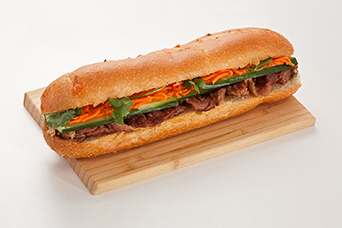Pork sub sandwich available at Lan Vietnamese Express in Parksville, BC