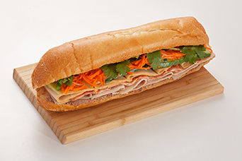 Traditional sub sandwich available at Lan Vietnamese Express in Parksville, BC